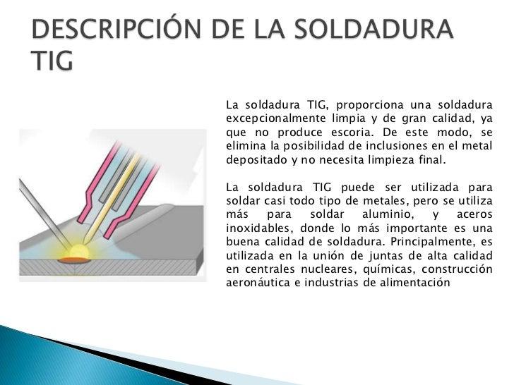 Soldadura tig for Que es soldadura