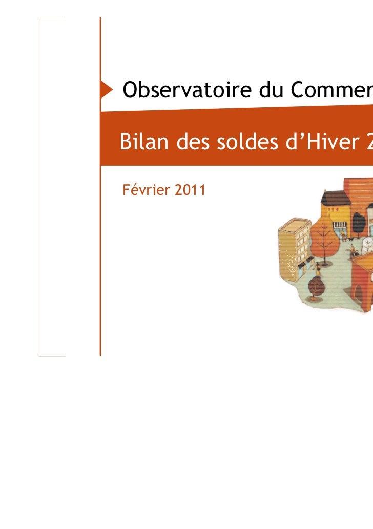Observatoire du Commerce                           Bilan des soldes d'Hiver 2011…                           Février 2011Ob...