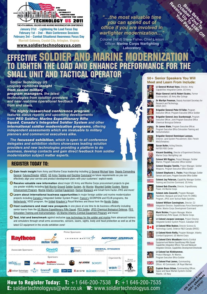 Soldier Technology US Conference and Exhibition Brochure