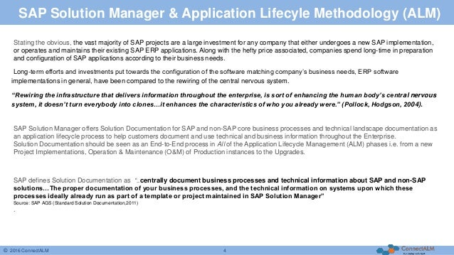 Your Companys Business In SAP Solution Manager - Company process documentation