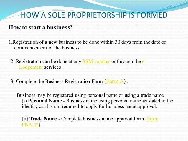 sole trader registration  Sole proprietorship
