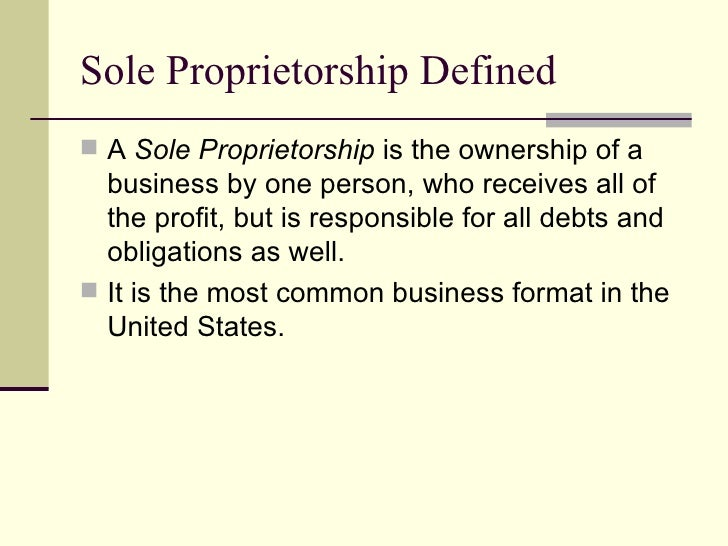 sole proprietorship 2 essay Essays tagged: sole proprietorship the title of the essay is business ownership the question was: name the three different types of business ownership and name the advantages and disadvantages of each form.