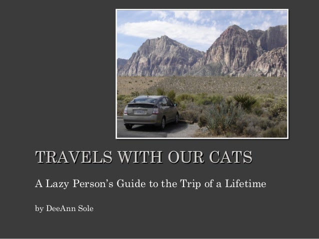 TRAVELS WITH OUR CATS A Lazy Person's Guide to the Trip of a Lifetime by DeeAnn Sole