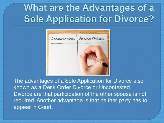 Divorce What Is A Sole Application For Divorce