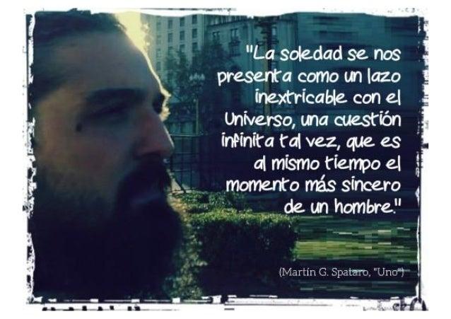 Martín G Spataro Uno Frase Del Libro Sobre Soledad