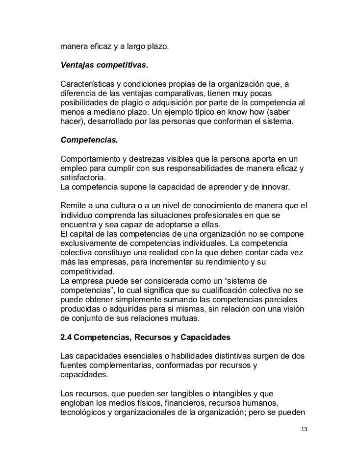 manera eficaz y a largo plazo.Ventajas competitivas.Características y condiciones propias de la organización que, adiferen...