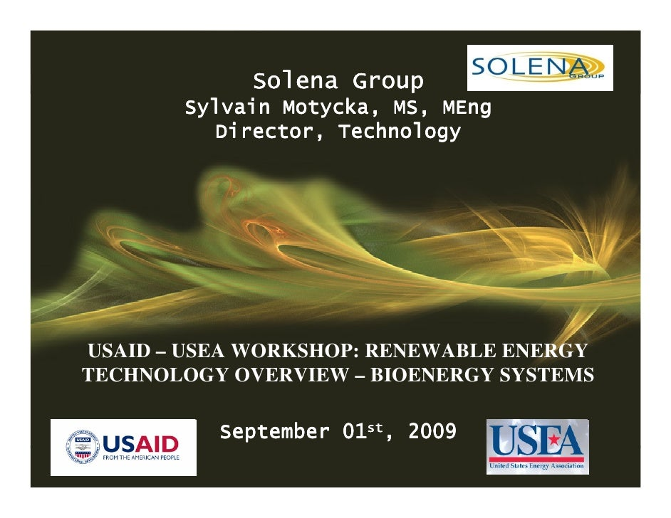CONFIDENTIAL                         Solena Group               Sylvain Motycka, MS, MEng                  Director, Techn...
