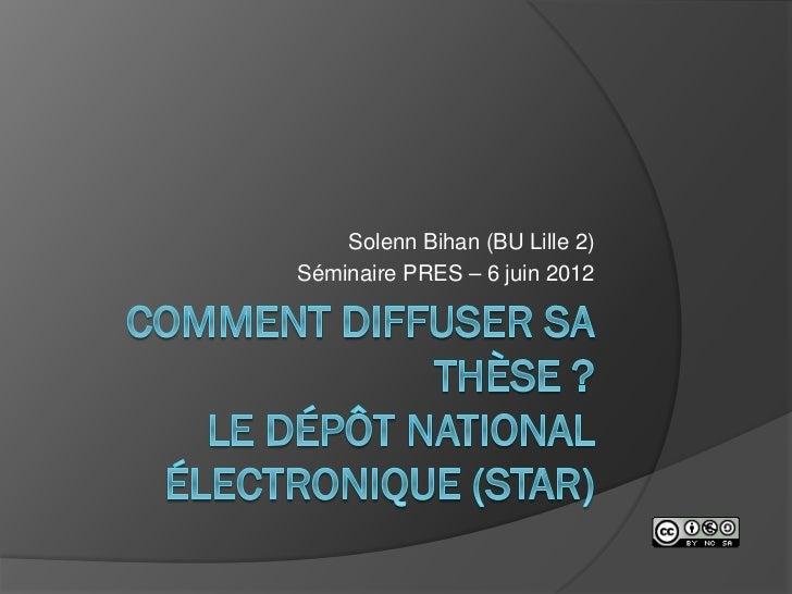 Solenn Bihan (BU Lille 2)Séminaire PRES – 6 juin 2012