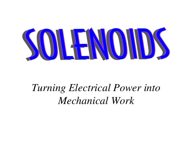 Turning Electrical Power into Mechanical Work