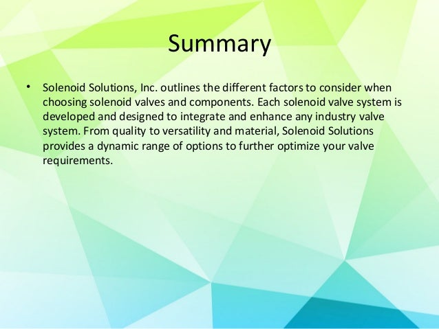What to Consider When Selecting a Solenoid Valve