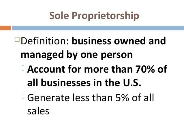 corporation and sole proprietorship A corporation has more of a continuous existence than a sole proprietorship or a partnership as its lifespan is not tied to specific individual ownership two types of corporations exist in ontario, and they can be incorporated at the provincial or federal level private corporations: these can be formed by one.