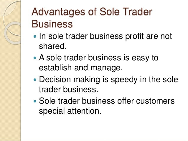 business sole trader A sole trader can have two, or more, businesses but there are tax, national insurance and vat implications to keep in mind when running more than one business.