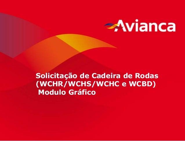 1 Solicitação de Cadeira de Rodas (WCHR/WCHS/WCHC e WCBD) Modulo Gráfico