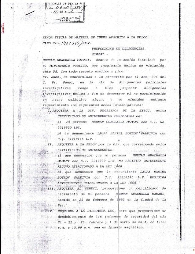 J R i i I I I I I Dfi ruRr'ro ¿nsclrrTcl A LA Ff'LCC I PROPOSiCT,TN J,.E DILTGENCTAS. 1 :) ,' . SEÑOR F.ISCA.I DE MATr,RIA...