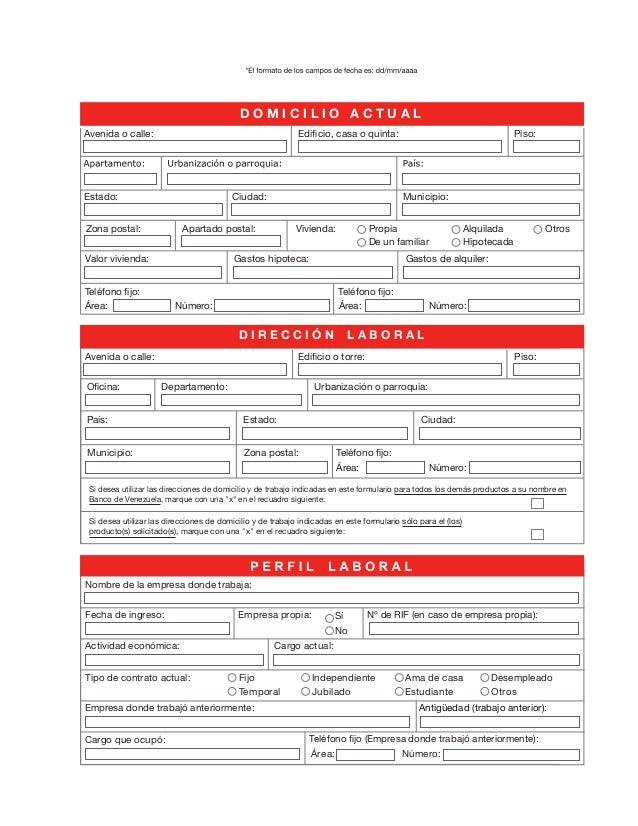 banco bicentenario planilla de solicitud de tarjeta de On planilla de solicitud de tarjeta de credito banco bicentenario