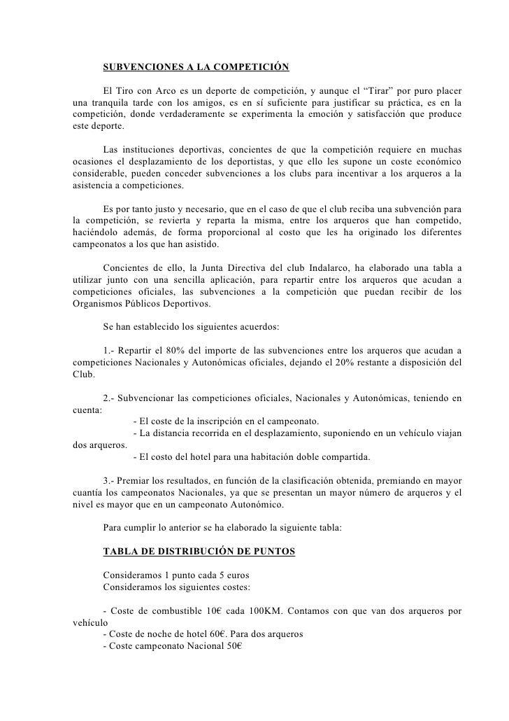 """SUBVENCIONES A LA COMPETICIÓN         El Tiro con Arco es un deporte de competición, y aunque el """"Tirar"""" por puro placer u..."""