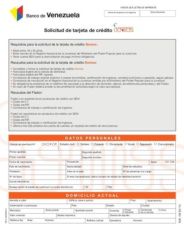 solicitud tdc digital somos banco de venezuela On solicitud de tarjeta de credito banco de venezuela
