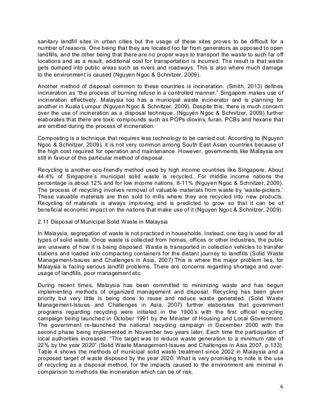 solid waste management essay 1 generation and disposition of municipal solid waste (msw) management in thailand an essay by chak cherdsatirkul advisor: prof nickolas j themelis, department of earth and environmental engineering.