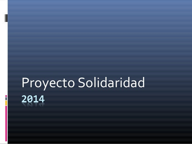Proyecto Solidaridad