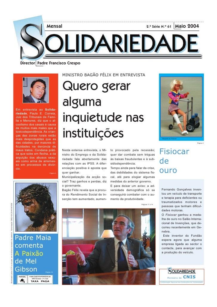 Mensal                                                                       2.ª Série N.º 61               Maio 2004     ...