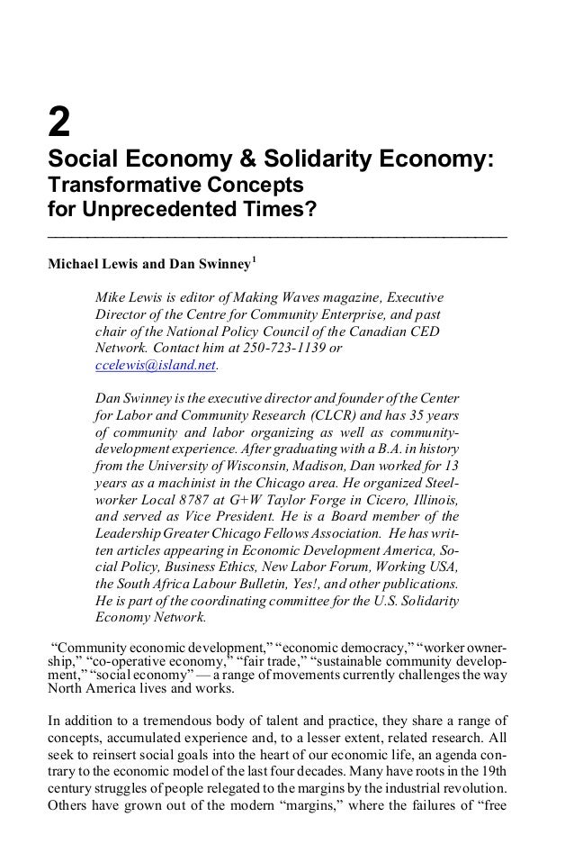 social solidarity essay Free essay: emile durkheim's notion of social solidarity at the heart of  durkheim's book of division of labor in society is social solidarity.
