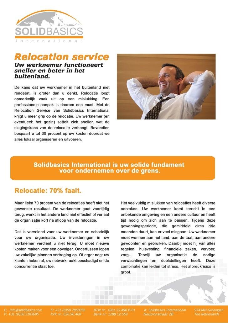Solidbasics International Brochure NL