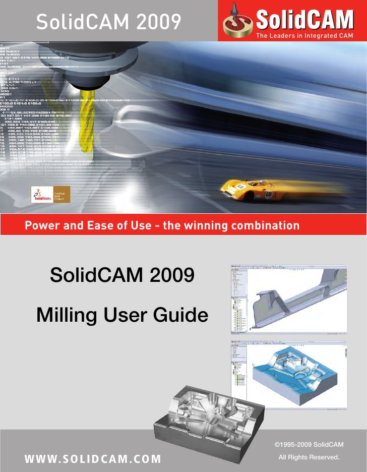 Solid Cam 2009 Milling User Guide