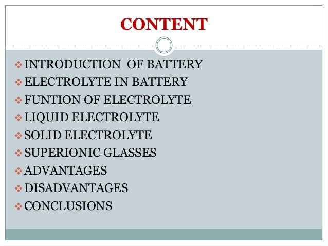 electrolyte for next generation batteries