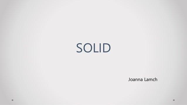 Joanna Lamch SOLID