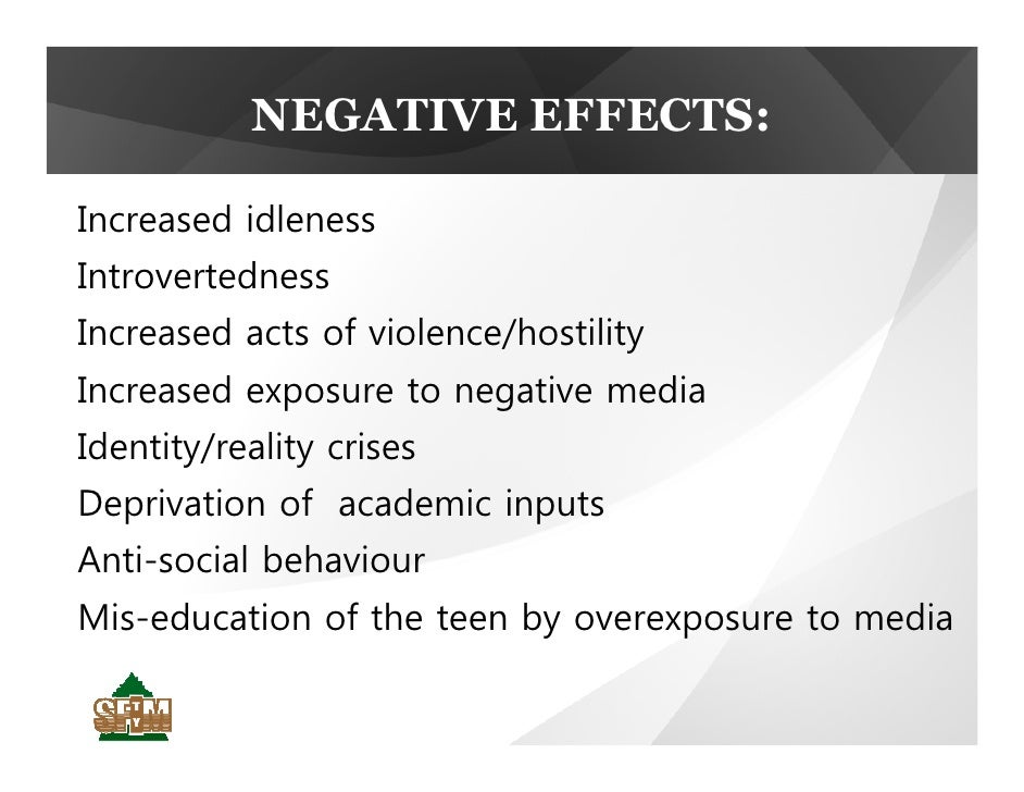 negative effects pop culture has on teens The third negative effect of mass media on teenagers is risky behaviors first example of a risky behavior is drinking and smoking according to kidshealthorg, a recent study by the center on alcohol marketing and youth (camy) found that alcohol ads on television have increased by 30% from 2001 to 2006 and underage kids are being exposed to.