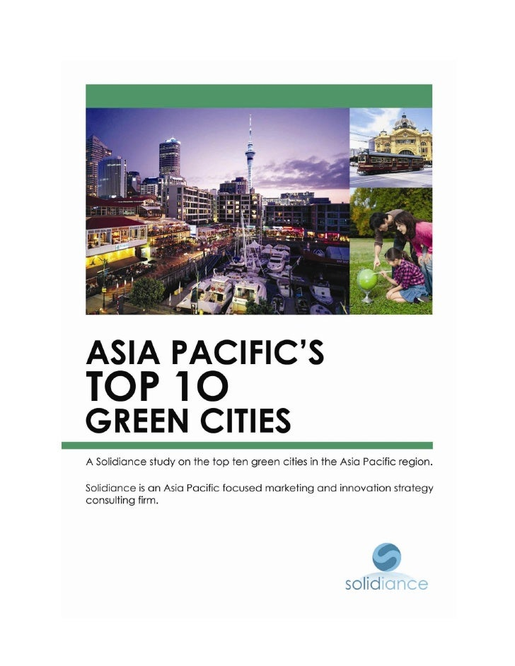 Top 10 Asia Green Cities -  Asian Green City Index - www.solidiance.com