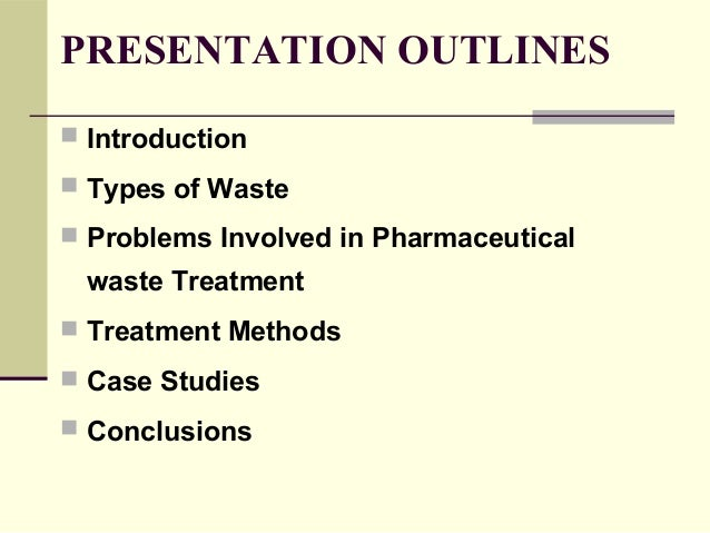 pharmaceutical waste treatment and disposal procedure Slide 2
