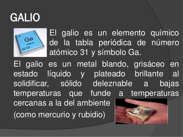 galio el galio es un elemento qumico de la tabla peridica - Tabla Periodica De Los Elementos Galio