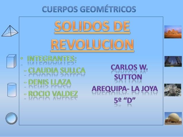 1. POLIEDROS: PRISMAS Y PIRÁMIDES 2. Cuerpos de revolución: cilindros, conos y esferas 3. Área de los poliedros 4. Área de...