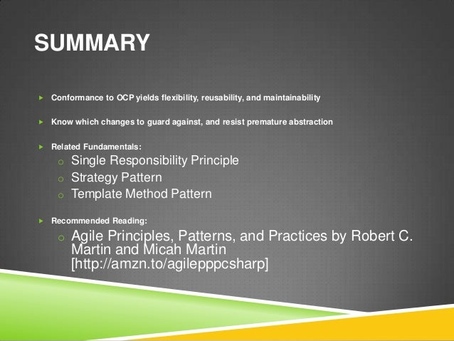 agile principles patterns and practices in c#  book
