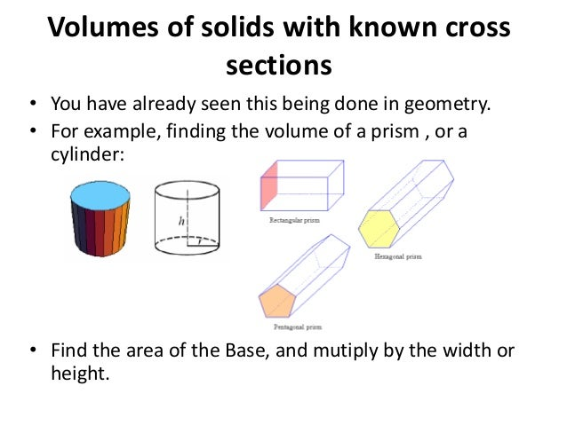 Solids cross section volumes of solids with known cross sections you have already seen this being done in the disk and washer method publicscrutiny Choice Image