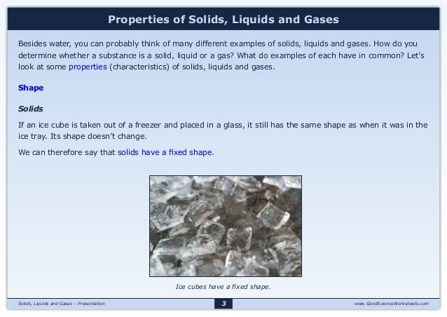 States Of Matter Solids Liquids And Gases Presentation