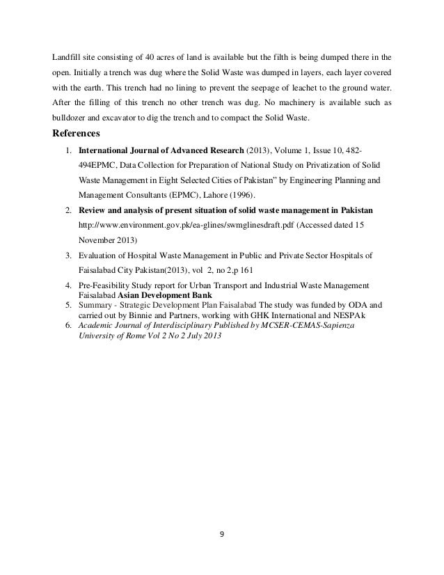 Privatization of solid waste management essay