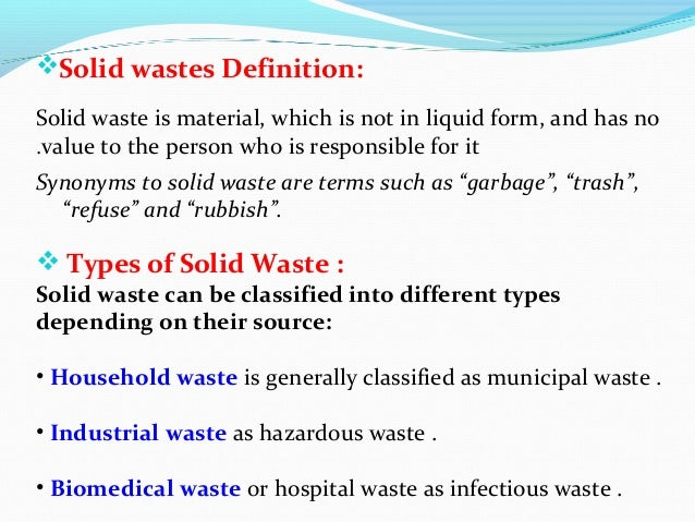 Solid waste environmental health for What s a solid