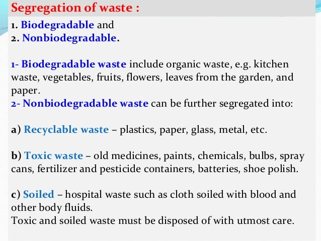 Essay on biodegradable and nonbiodegradable