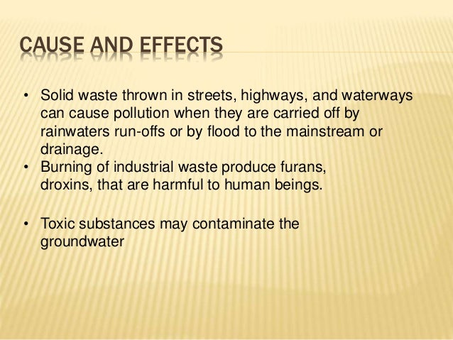 The Industrial Waste and Its Effects