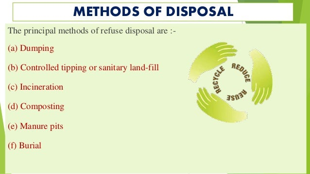 solid waste disposal practices Waste and disposal practices what is this municipal solid waste (msw), or trash, is made up of household items that people commonly use and then throw away or recycle.