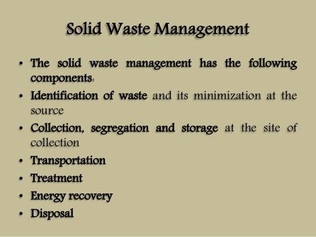 Solid Waste Management (Unit-V)