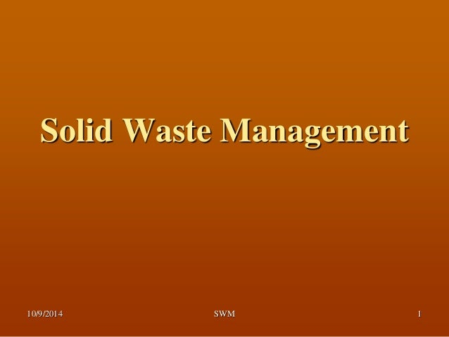 Management of solid waste in nablus