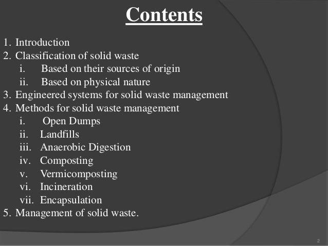 Solid waste management Slide 2