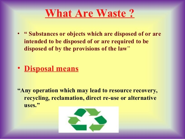 Seminar Presentation Ppt On Solid Waste Management