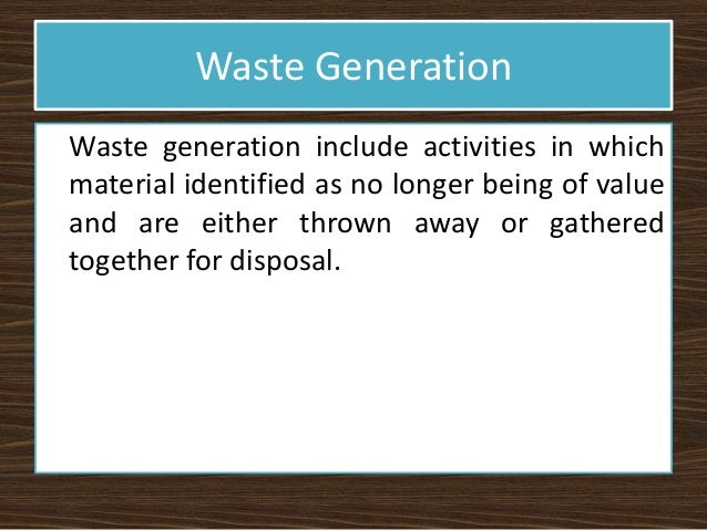understanding solid waste management Municipal solid waste links to pages on municipal solid waste management, public participation, and requirements for obtaining authorization to process or dispose of waste radioactive waste requirements for transporting or disposing of radioactive wastes in texas.