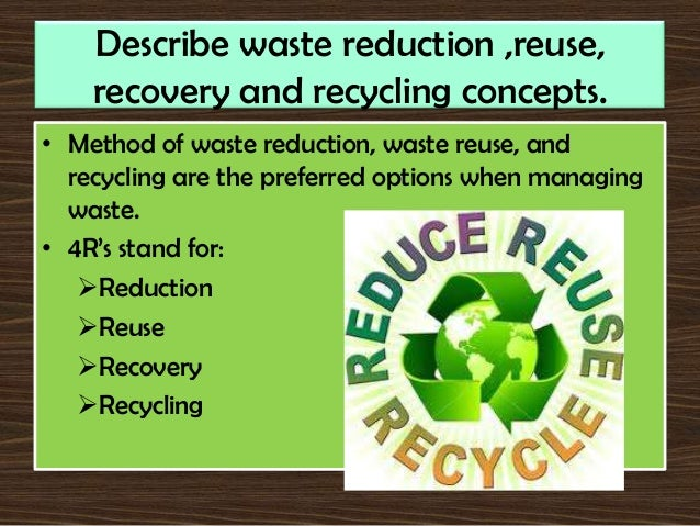 The gallery for --> Reduce Waste Examples