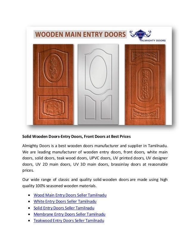Solid Wooden Doors Entry Doors Front Doors At Best Prices