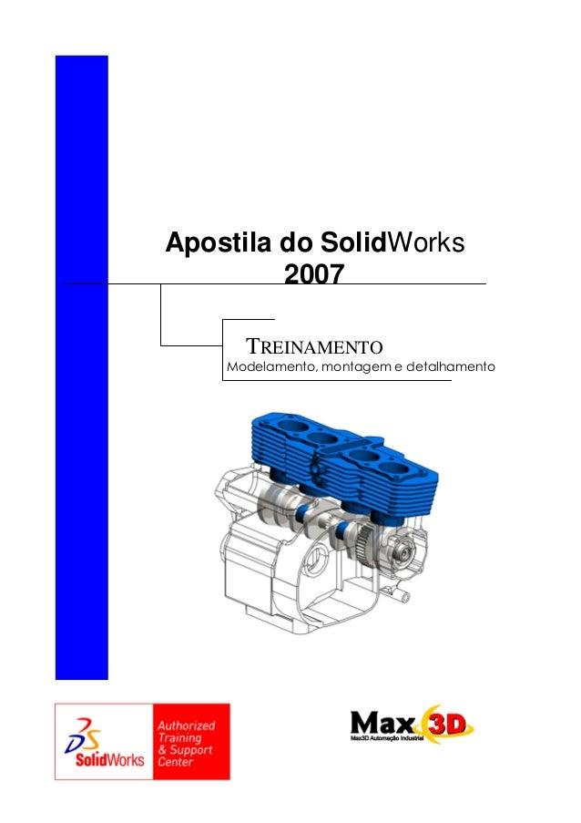 Apostila do SolidWorks 2007 TREINAMENTO